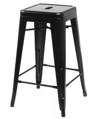 ArtD Barová stolička Paris 75cm inšpirovaná Tolix čierna