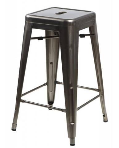 ArtD Barová stolička Paris 75cm inšpirovaná Tolix metalická