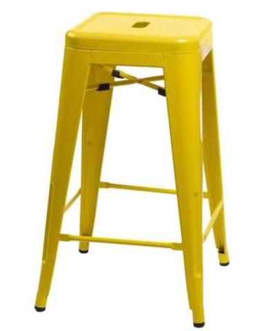 ArtD Barová stolička Paris 75cm inšpirovaná Tolix žltá