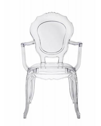 ArtD Jedálenská stolička Queen Arm transparentná
