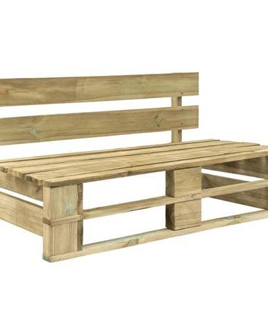 Záhradná drevená lavica z paliet smrek prírodný 110x80x55cm URAL