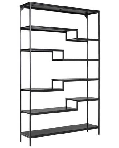 Ambia Home REGÁL, čierna, železo, 120/190/30 cm - čierna