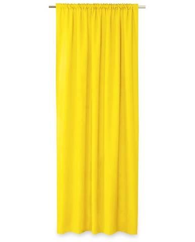 AmeliaHome Záves Oxford Pleat žltá, 140 x 250 cm