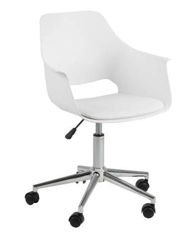 Biela kancelárska stolička Actona Ramona