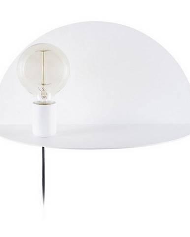 Biele nástenné svietidlo s poličkou Homemania Decor Shelfie, dĺžka 20 cm