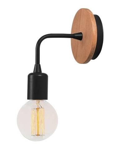 Čierne nástenné svietidlo Homemania Decor Simple Drop