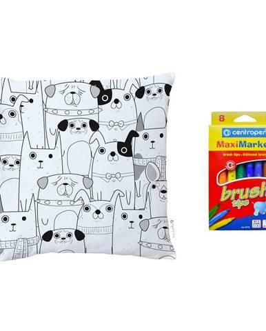 Farbiaci vankúš Mr. Little Fox All Get Together, 45 x 45 cm
