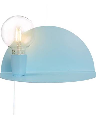 Modré nástenné svietidlo s poličkou Homemania Decor Shelfie