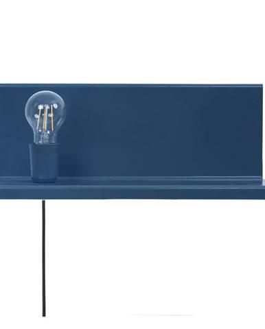 Modré nástenné svietidlo s poličkou Homemania Decor Shelfie2
