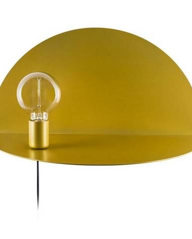 Nástenné svietidlo s poličkou v zlatej farbe Homemania Decor Shelfie