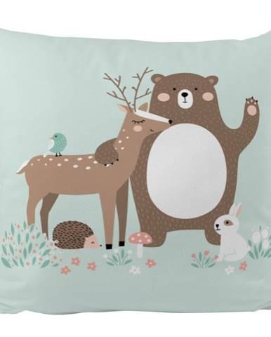 Obliečka na vankúš z bavlneného saténu Mr. Little Fox Dear Friends, 50 x 50 cm