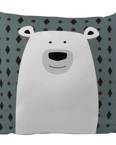 Obliečka na vankúš z bavlneného saténu Mr. Little Fox Polar Bear, 50 x 50 cm