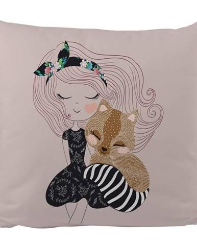 Obliečka na vankúš z bavlneného saténu Mr. Little Fox Two Princesses, 50 x 50 cm