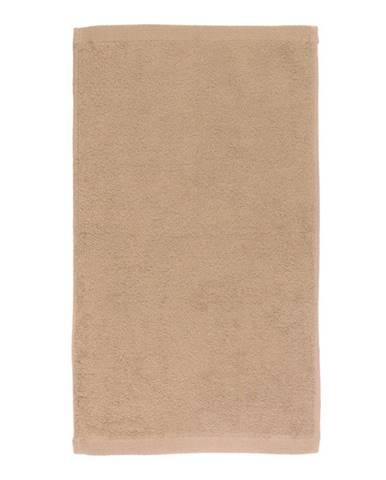 Tmavobéžový bavlnený uterák Boheme Alfa, 30 x 50 cm