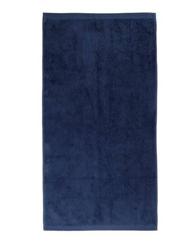 Tmavomodrý bavlnený uterák Boheme Alfa, 30 x 50 cm