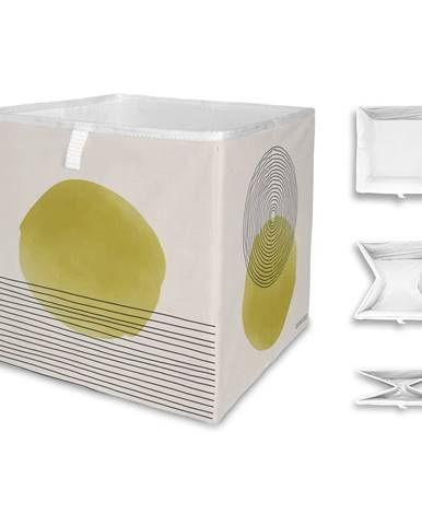 Béžovo-žltý úložný box z mikrovlákna Butter Kings Rising, 32 l