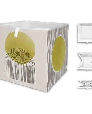 Béžovo-žltý úložný box z mikrovlákna Butter Kings Rising Sun, 32 l