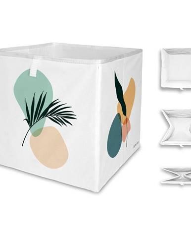 Biely úložný box z mikrovlákna Butter Kings Botanical Art, 32 l