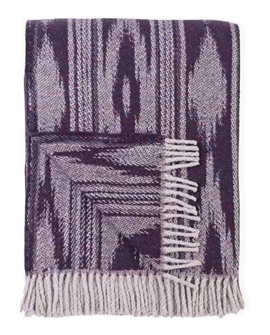 Fialový pléd s podielom bavlny Euromant Zanzibar, 140 x 180 cm
