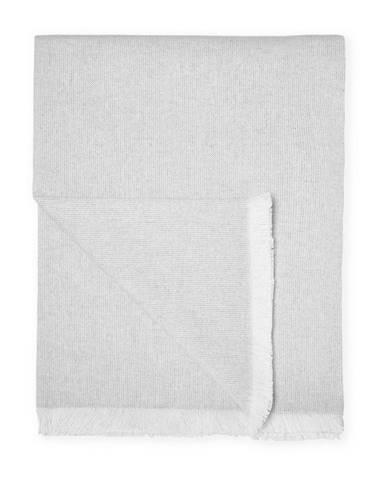 Svetlosivý pléd s podielom bavlny Euromant Summer Linen, 140 x 180 cm