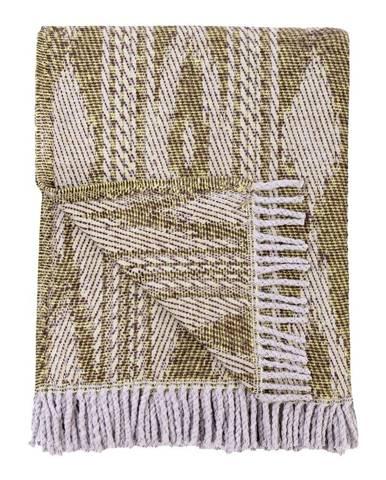 Tmavozelený pléd s podielom bavlny Euromant Zanzibar, 140 x 180 cm