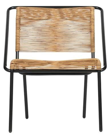 Čierno-hnedá stolička vhodná aj do exteriéru BePureHome Wisp