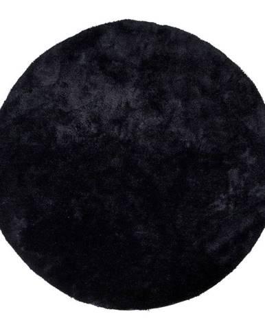 Čierny okrúhly koberec HoNordic Florida, ø 120 cm