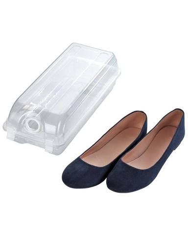 Transparentný úložný box na topánky Wenko Smart, šírka 14 cm