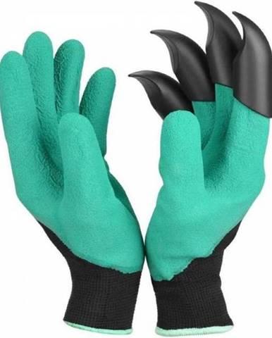 Rukavice záhradné latex. s plastovými pazúrmi zelené
