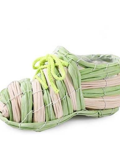 Kvetináč ozdobný tvar topánka, mix farieb, 4 druhy