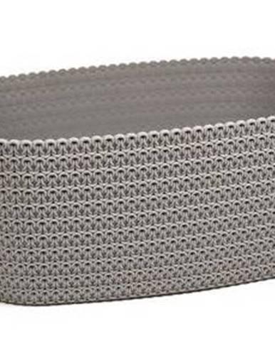 Truhlík oval JERSEY 380, tmavo-šedá