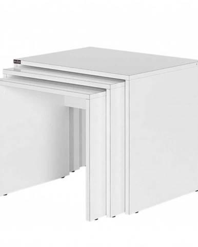 Prístavné stolíky SHP-103 biela, 3 ks