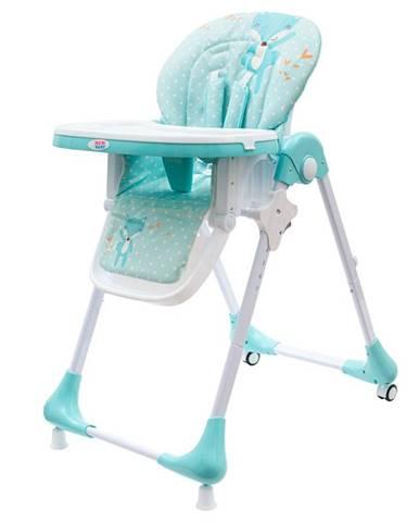 New Baby Jedálenská Stolička Minty Fox