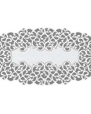 Žakárový obrus  250171 oválny 70X140 biely