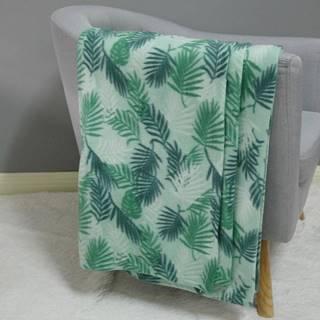 Fleecová deka lístie 170x220