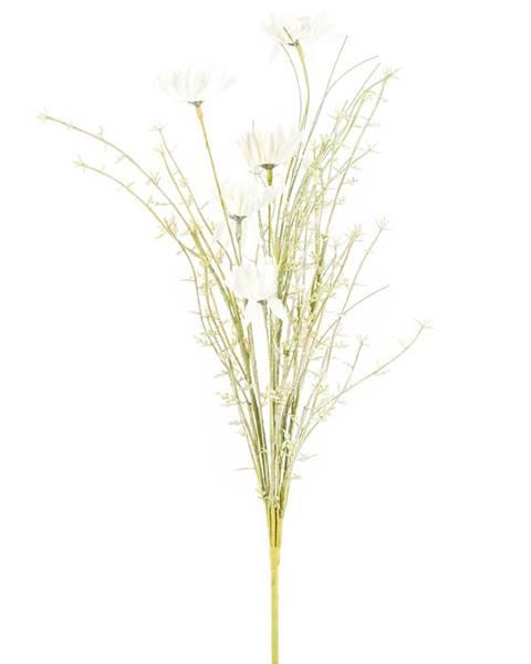 4Home Umelé lúčne kvetiny 50 cm, biela