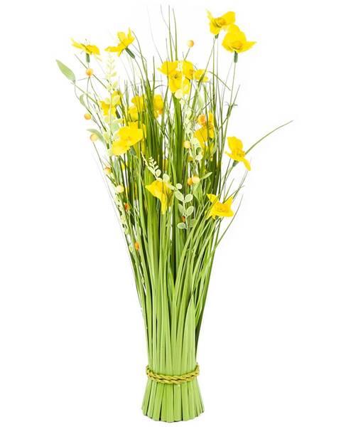 Bellatex Väzba umelých lúčnych kvetín 70 cm, žltá
