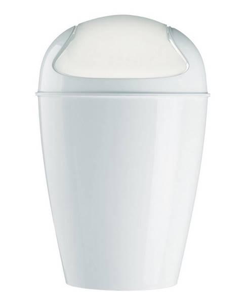 Koziol Koziol Stolný kôš s poklopom Dell XXS biela, 12,7 x 12,7 x 18,7 cm