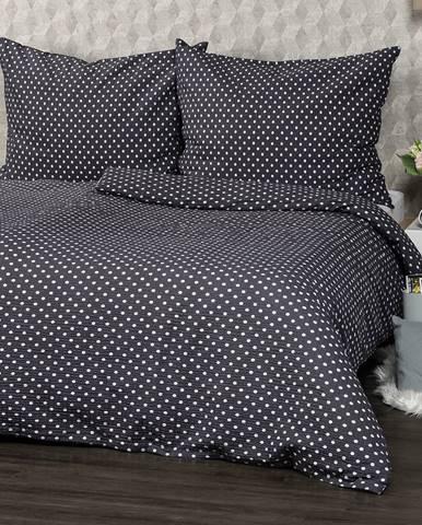 4Home Krepové obliečky Sivá bodka, 220 x 200 cm, 2 ks 70 x 90 cm