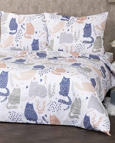 4Home Bavlnené obliečky Nordic Cats, 200 x 220 cm, 2 ks 70 x 90 cm