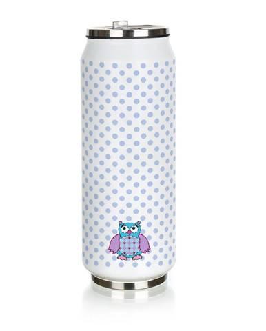 Banquet Termoska Be cool Owl 430 ml, modrá
