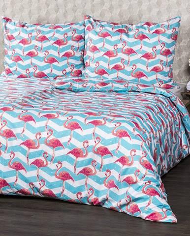 4Home Bavlnené obliečky Flamingo, 160 x 200 cm, 70 x 80 cm, 160 x 200 cm, 70 x 80 cm