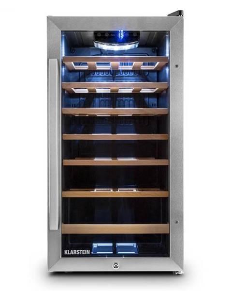 Klarstein Klarstein Vivo Vino 26, 88 litrov, chladiaca vinotéka, 26 fliaš, čierna, LED