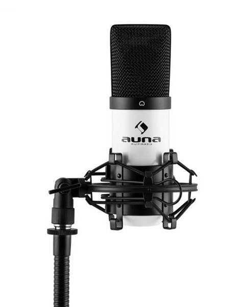Auna Auna Pro MIC-900WH, biely, USB, kondenzátorový mikrofón, kardioidný, štúdiový