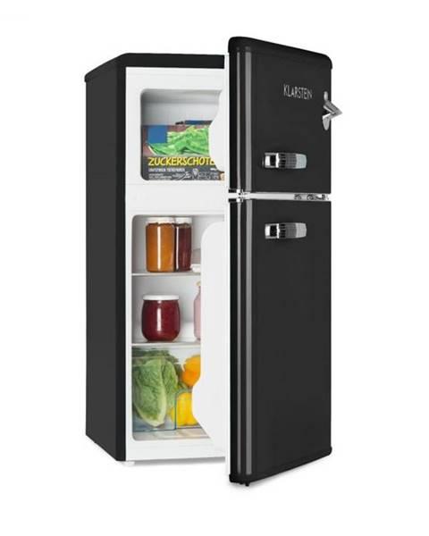 Klarstein Klarstein Irene, retro chladnička s mrazničkou, 61 l chladnička, 24 l mraznička, čierna