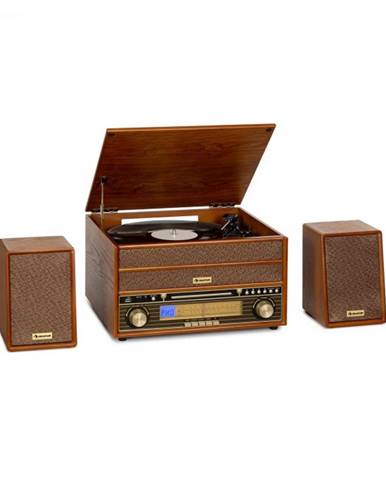Auna Belle Epoque 1910, retro stereo systém, gramofón, CD prehrávač, reproduktory