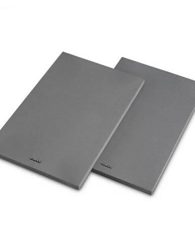 Numan Reference 802 Cover, strieborný, kryt na regálové reproduktory, pár