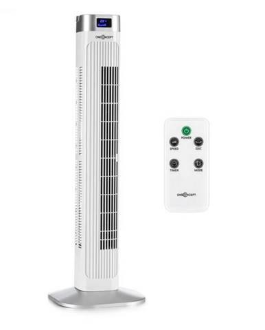 OneConcept Hightower 2G, stĺpový ventilátor, časovač, 50 W, biely