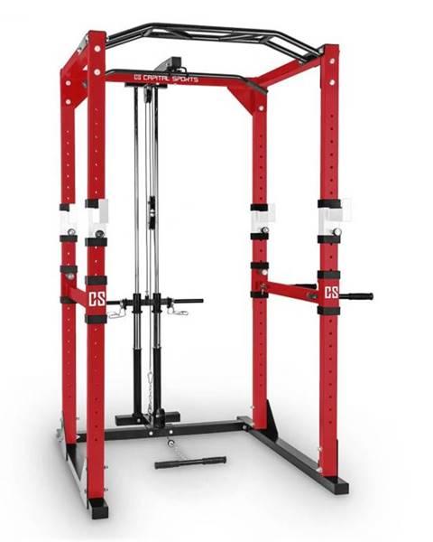 Capital Sports Capital Sports Tremendour PL, červený, posilňovací stojan, Power Rack, kladka, oceľ