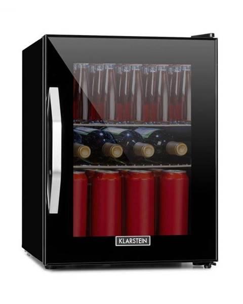 Klarstein Klarstein Beersafe M Onyx, chladnička, A+, LED, 2 kovové rošty, sklenené dvere, onyx